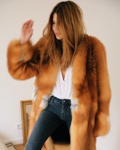 Casual fur coat