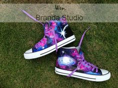 2013-Galaxy Shoes,Studio Hand Painted Shoes 49.99Usd,Paint On Converse Shoes Only 89Usd,Buy One Get One Phone Case Free,Galaxy Converse