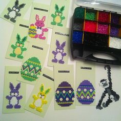 Easter cards hama beads by barica