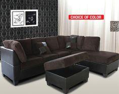 Eva 3pc Sectional Sofa Set