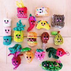 rainbow loom band happy foods via miss zali blog and feelin spiffy you tube