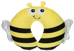 My Doodles Fun Novelty Children's Character Cotton Flexible Head and Neck Support Comfort Travel Pillow Cushion - Bee