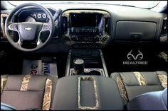 Chevy Truck with Realtree Max5 Interior.   #Realtreemax5
