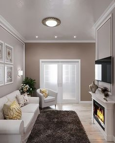 Classy Living Room, Living Room Decor Cozy, Living Room Paint, Living Room Colors, Living Room Interior, Home Living Room, Living Room Designs, Home Room Design, Home Interior Design