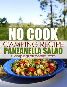 This is one of the best easy no cook camping meals! I've served this CampingForFoodies Panzanella Salad No Cook Camping . Camping Food Make Ahead, Camping Lunches, Camping Salads, Camping Cooking, Family Camping, Tent Camping, Campsite, Campfire Dutch Oven Recipes, Campfire Food