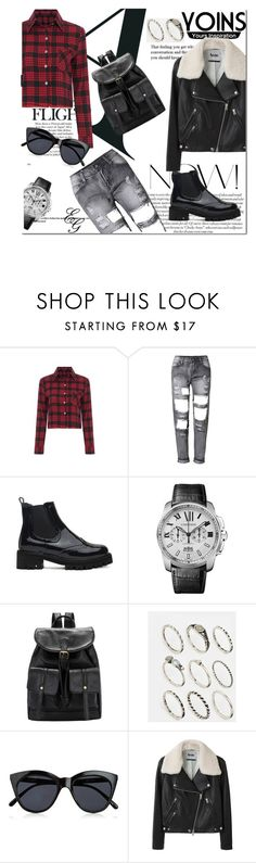 """Showin' Out With My Home Girls"" by alliedaddysgirl ❤ liked on Polyvore featuring Cartier, ASOS, Le Specs, Acne Studios and yoins"
