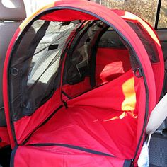 The Double Car-Go Pop-up Shelter can be used as two separate compartments or zip down the center divider for one large enclosure. The Car-Go is designed to fit on the back seats of most cars and SUV's
