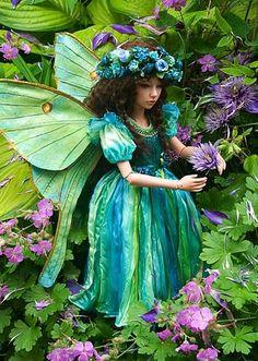 Luna moth fairy doll