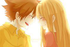 10YL Tsuna and Kyoko. What a cute couple!