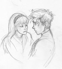 Peter Parker and Gwen Stacy by Burdge-bug. (The Amazing Spiderman.)