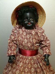 """Absolutely Breathtaking 17"""" Ebony Simon & Halbig 739 Antique Doll WOW!   from Ruby Lane"""