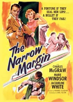 Directed by Richard Fleischer.  With Charles McGraw, Marie Windsor, Jacqueline White, Gordon Gebert. A woman planning to testify against the mob must be protected against their assassins on the train trip from Chicago to Los Angeles.