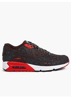 Nike Men's Red Paisley Air Max Lunar 90 PRM QS