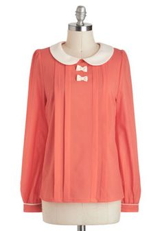 The Coral of the Story Top, #ModCloth