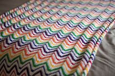 Rainbow Crochet Blankie - Knitting Patterns and Crochet Patterns from KnitPicks.com
