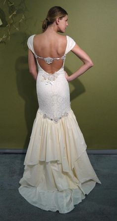 Bohemian Wedding Dress by Claire Pettibone
