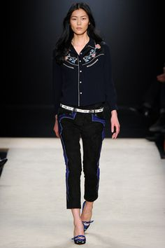 New, fresh, crisp: Denim, as embroidered by Isabel Marant.