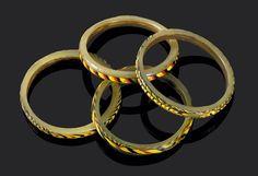 Byzantine/Islamic (more probably Islamic) glass bangles. Eastern Mediterranean.