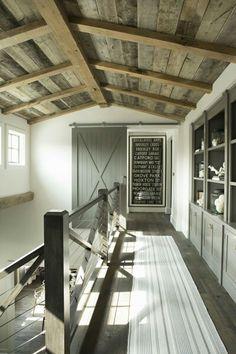 Banister, builtins, ceiling, windows