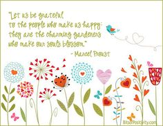 """Let Us Be Grateful"" Word Art Freebie | BitsofPositivity.com"