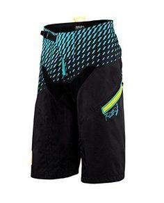 100% R-Core Men's DH Shorts Black/Cyan 38