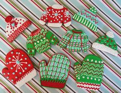 New designer Christmas cookies available to preorder, in our Etsy shop!   The Queen of Tarts