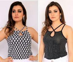 Blusa de Light estampada cod: 24.511 Blusa de Radiosa listrada cod: 24.481  Veja mais em www.claraassis.com.br