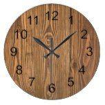 Rustic Beautiful Wood Texture Wall Clocks  #Beautiful #clocks #Rustic #RusticClock #Texture #Wall #Wood The Rustic Clock