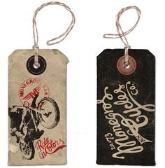 Monegros Cycles Branding by Alex Ramon Mas / hang tag Tag Design, Label Design, Clothing Tags, Custom Clothing, Swing Tags, Vintage Tags, Printing Labels, Brand Packaging, Graphic Design Typography