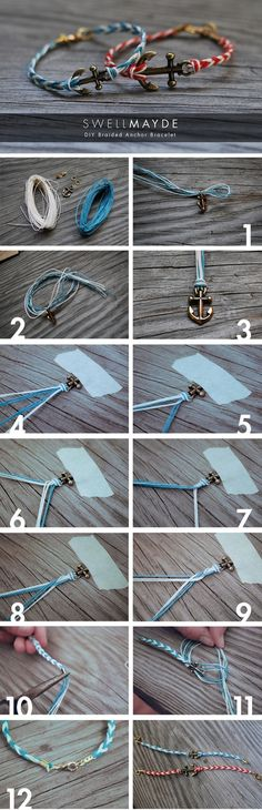 #DIY #fun #bracelet #fashion #accesories #howto #tutorial #anchor #cute #fishtail cool