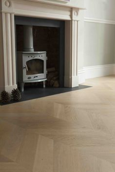 Our oak chevron wood flooring