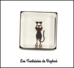 bague bronze réglable carrée chat : Bague par dafi51