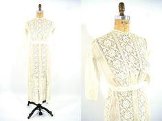 1900s dress vintage cream white The Waldorf by StorylandVintage