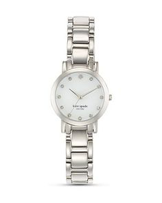 kate spade new york Small Stainless Steel Gramercy Watch with Crystal Markers, 24mm | Bloomingdale's