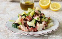 POLPO CON ZUCCHINE E PATATE secondo piatto di pesce facile e gustoso, un piatto di pesce leggero e saporito da gustare in ogni occasione