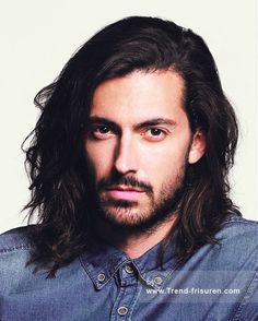 32 Gorgeous Top Male Models with Long Hair | Long haired men, Hair ...