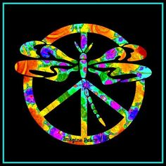 Dragonfly Peace Man ☮ Peace Artist JR