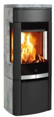 Scan 64 -4 Houtkachel met speksteen en zijglas - Product in beeld - - Startpagina voor sfeerverwarmnings ideeën | UW-haard.nl