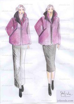 """- Rozszerzona ku dołowi, świetnie maskuje szerokie biodra. Postawiony duży kołnierz balansuje sylwetkę, a pionowe linie i właściwie dobrane kolory optycznie są """"ustawiają"""" w dobrych proporcjach. Ważne! Do takiej kurtki dobrze wyglądają wyłącznie proste ołówkowe spódnice i wąskie spodnie. on Jola Szala - Siła kobiecego ubrania  http://jolaszala.com/porady-joli/kurtka-dla-tezszej-sylwetki/#sg1"""