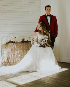 Vintage and velvet wedding