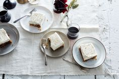Olive Oil Carrot Cake with Sesame Buttercream recipe on Food52