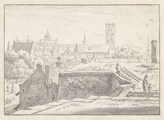 Herman Saftleven | Gezicht op de Mariakerk, Herman Saftleven, 1619 - 1685 | Gezicht op de Mariakerk vanaf de stadswal van Utrecht.