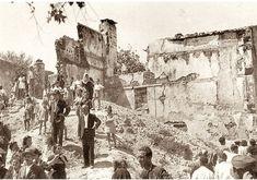 Φωτογραφία από την ισοπεδωμένη από βομβαρδισμούς πλατεία Αγίου Νικολάου Σπλάντζιας Χανίων