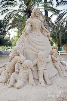 Fairytale Sand Sculpture  Photograph  - Fairytale Sand Sculpture  Fine Art Print