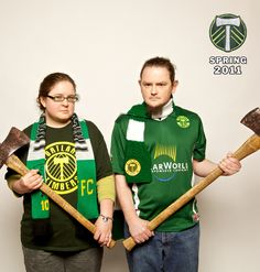 We are the Timbers. Kara and Ralph.