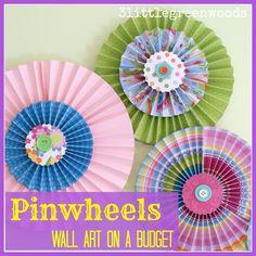 Great tutorial on making pinwheel type wall art