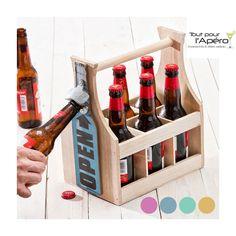 Idéal pour vos pique-niques apéro, vous ne vous séparerez plus de votre casier à bouteilles de bière avec son décapsuleur intégré.