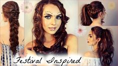 Music Festival inspired DIY hairstyles. Definitely will try all of these!
