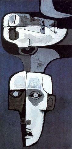 Oswaldo Guayasamin: Mural de la Miseria no 2 (1969) Acrilico y madera. 244 x 122cm. Mural movible. La Edad de la Ira. Colección Fundación Guayasamín. Quito. Ecuador