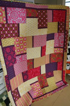 Purple Gold Yellow Quilt 56X72 by Quiltbarnidaho on Etsy, $225.00